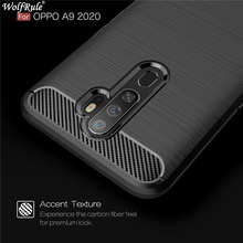 Case For Oppo A9 2020 Shockproof Bumper Carbon Fiber Cover (2020) Phone Fundas Wolfrule