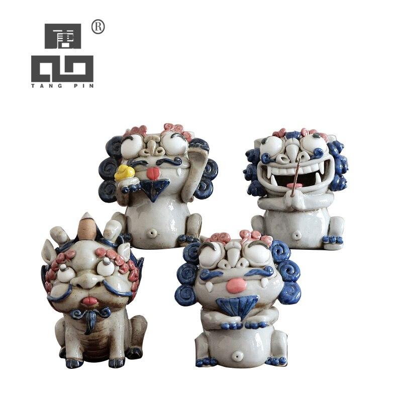 TANGPIN ceramic tea pets chinese lion cute porcelain teapets handmade chinese kung fu tea accessories|Tea Pets| |  - title=