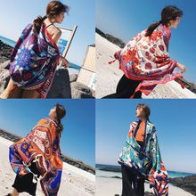 180x100cm Womens Boho Tassels Wrap Scarf Oversized Sunscreen