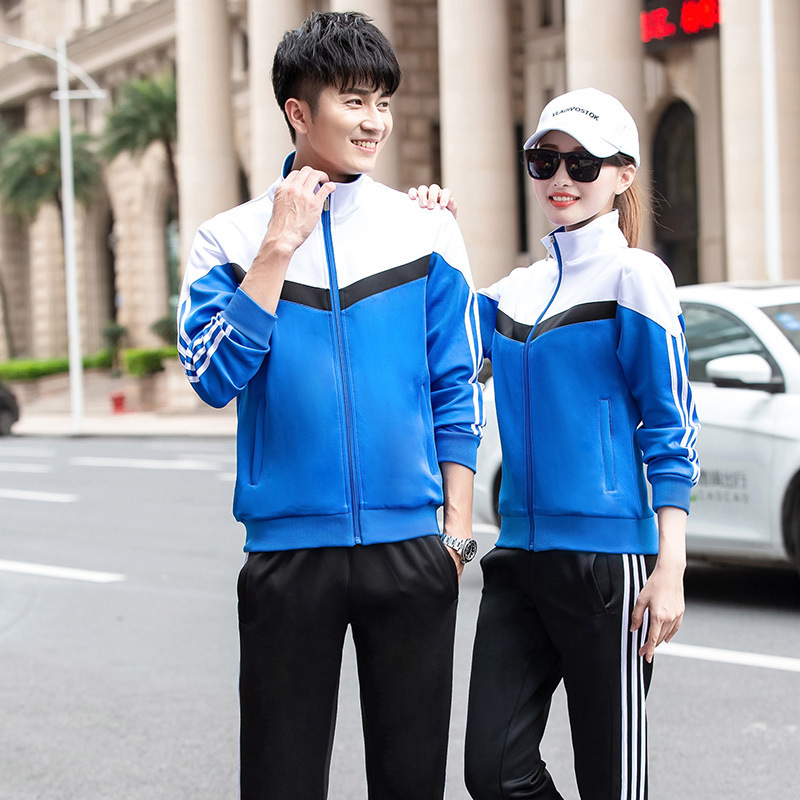 2019 New Style School Uniform Set College Style Junior High School High School Students Business Attire Korean-style Blue And Wh