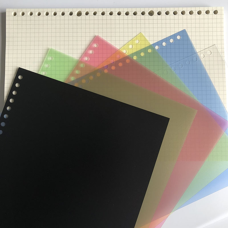 PP Loose Leaf Notebook Cover
