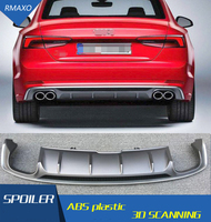 For Audi A5 S5 Body kit spoiler 2017 2019 For Audi A5 RS5 ABS Rear lip rear spoiler front Bumper Diffuser Bumpers Protector