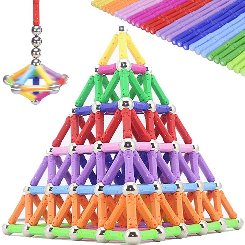 Cool Magnet Magnetic Building Blocks Toys Bars Balls Metal Construction Designer Educational Toddler Christmas Toys For Children