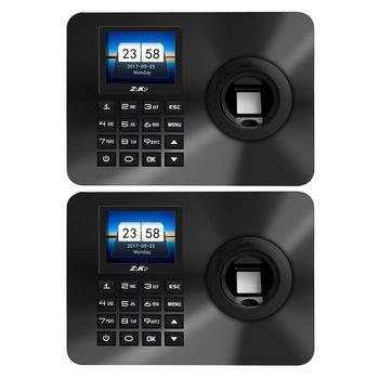 ZK-TA10 2 4-calowy czytnik linii papilarnych rozpoznawanie hasła maszyna obsługująca wyjście u-disk karta obecności formularz raportu tanie i dobre opinie NONE CN (pochodzenie)