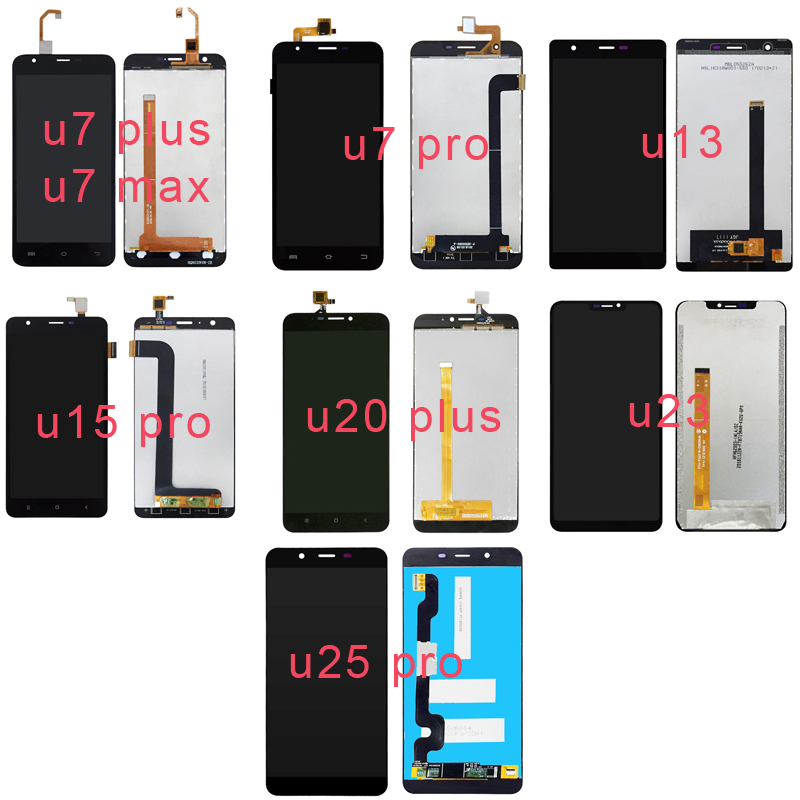 For OUKITEL U7 PLUS/MAX/PRO U13 15 PRO U20 PLUS U23 U25 PRO LCD Display+Touch Screen Digitizer Panel  Glass Assembly Complete