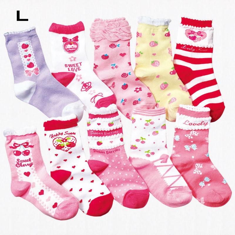 10 Pairs Winter Children Girls Princess Kids Socks Cute Cartoon Cotton Socks Children Candy Color Girls Socks