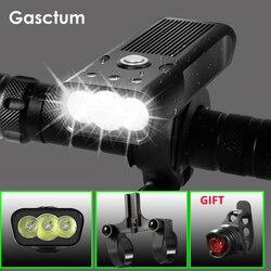 20000 Lums Lampu Sepeda L2/T6 USB 5200 M Ah Isi Ulang Sepeda Lampu Tahan Air Lampu LED Power Bank Sepeda Aksesoris