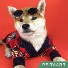 Sweater Cardigan Puppy Christmas-Coat Dogs Small Brand Medium Cats G-Style Bee-Pattern