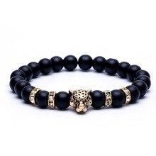 Модный Леопардовый браслет из бисера, талисман на удачу, классический браслет из натурального камня, пара браслетов для мужчин и женщин, модный подарок на день Святого Валентина