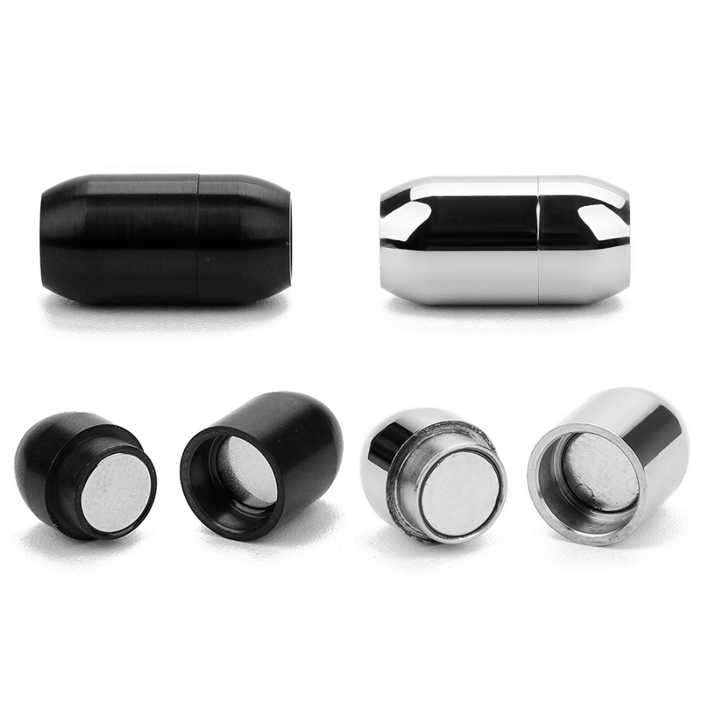Strong Magnet 3/4/5/6/8mm Stainless Steel Magnetic Clasps For Leather Cord Bracelet Connectors End Caps For Jewelry Making