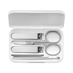 Image 4 - Xiaomi mijia 5 pçs/set cortador de unhas, em aço inoxidável, unhas dedo, cortador unha, tesoura, kit de aliciamento, ferramentas de manicure pedicure