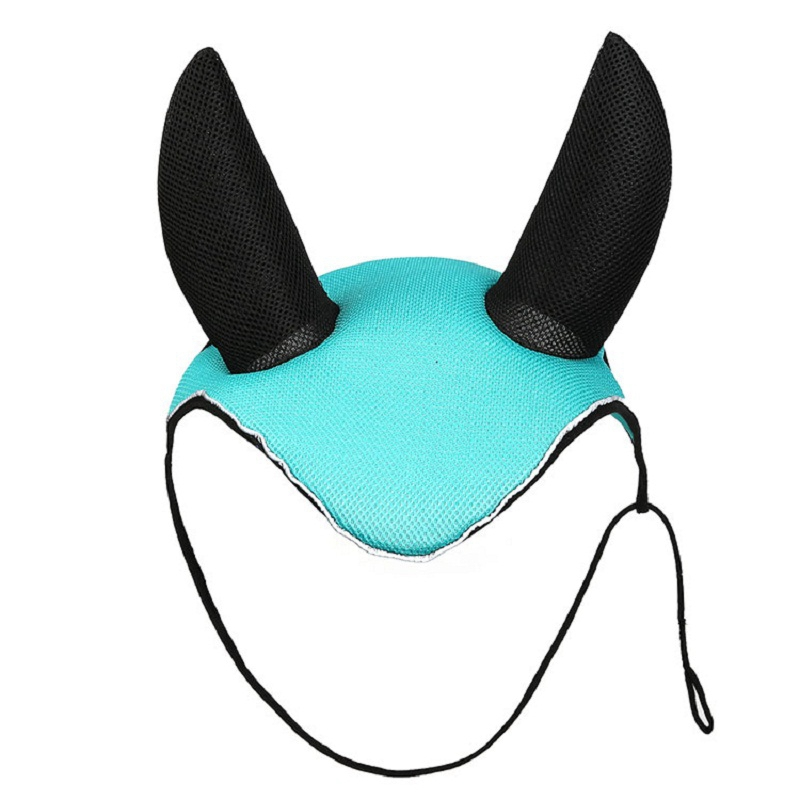 Horse Riding Breathable Meshed Horse Ear Cover Equestrian Horse Fly Mask Bonnet Net Ear Masks Protector  Horse Accessories