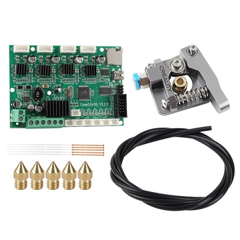 3D Printer Accessories for Ender 3 Pro/Ender 5/Cr-10S Motherboard + Extruder + Teflon Tube + Nozzle Upgrade Kit(Nozzle 0.4mm)