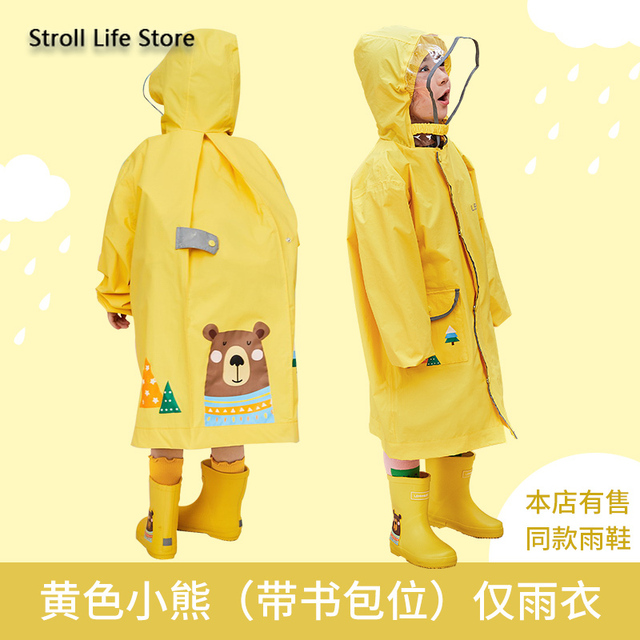 Cuet Students Boy Raincoat Kids Yellow Long Rain Poncho Pink Girl Children Rain Coat Jacket Rain Cover Capa De Chuva Gift Ideas 4