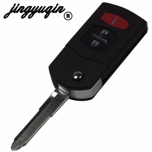 Jingyuqin 2 + 1 3 أزرار تصفيف السيارة الوجه للطي البعيد مفتاح قذيفة سيارة غطاء فوب لمازدا 3 5 6 CX5 CX7 CX9 RX8