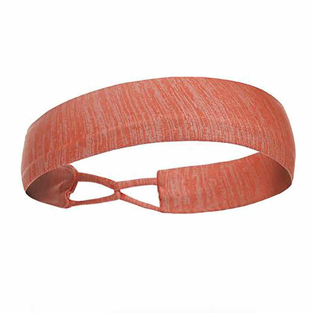 Z pałąkiem na głowę dla fitness sportowy opaski do włosów dziewczyny opaska do włosów do biegania z pałąkiem na głowę Sport elastyczna chusta na głowę pasek Accesorios Deportivos 2019