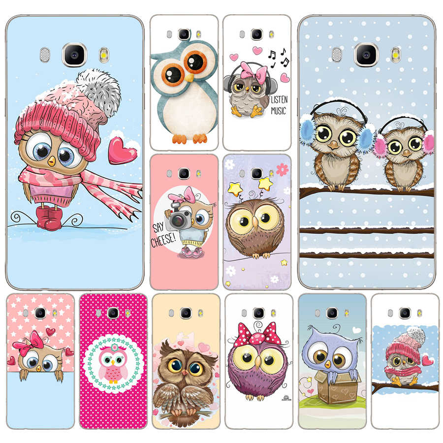 95DD Cute Owl Hearts Lover Christmas Soft Silicone Case Cover for Samsung Galaxy a3 a5 2017 A6 A8 2018 j3 j5 j7 2016 2017