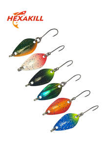 Fishing-Metal Baits Spoon Trout Lure Mini Single-Hook Hexakill for 1pcs Colorful 3g/3.3g