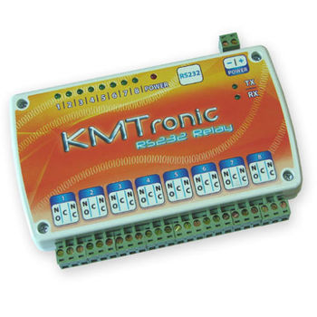 RS232 Serial COM controlled 8 Channel Relay Board BOX - 12V