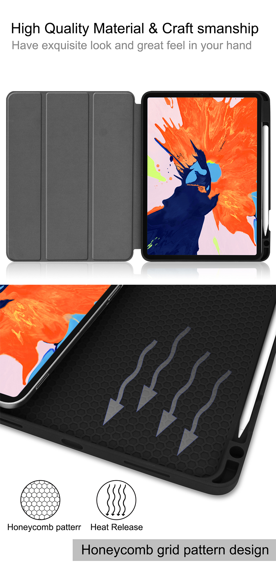 Generation Flip inch Pro iPad Leather 4th MTT For 2020 Stand 12.9 Case Tablet TPU+PU Soft
