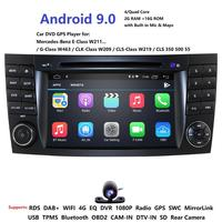 IPS 4G Android 9.0 2 din car DVD player For Mercedes Benz E class W211 E200 E220 E300 E350 E240 E270 E280 CLS CLASS W219 DAB BT