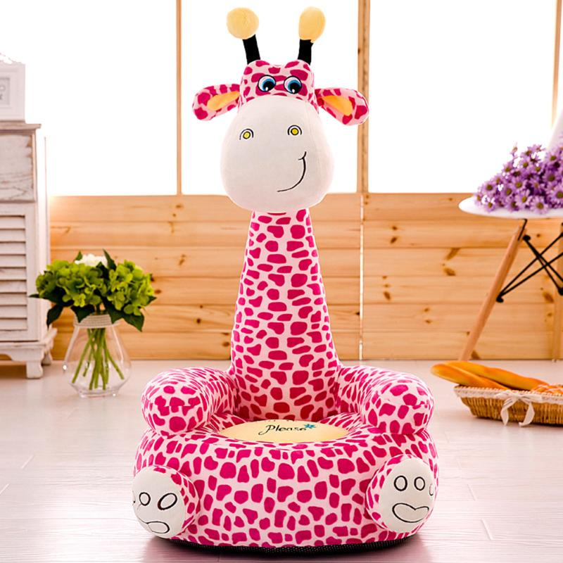Washable Baby Sofa Seat Cover With Sufficient Durability And Toughness Toddler Sit Learning Plush Chair Case With Filler