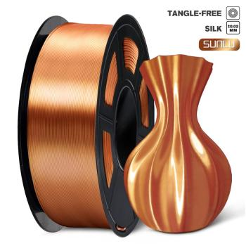 PLA Filament 1kg Silk Texture 1.75mm Red Copper High Toughness Eco-friendly FDM 3D Printer Printing Material Tolerance 0.02mm silky copper pla filament silk 1 75mm 1kg 3d printing material silk like feel pla metal like red blue green natural