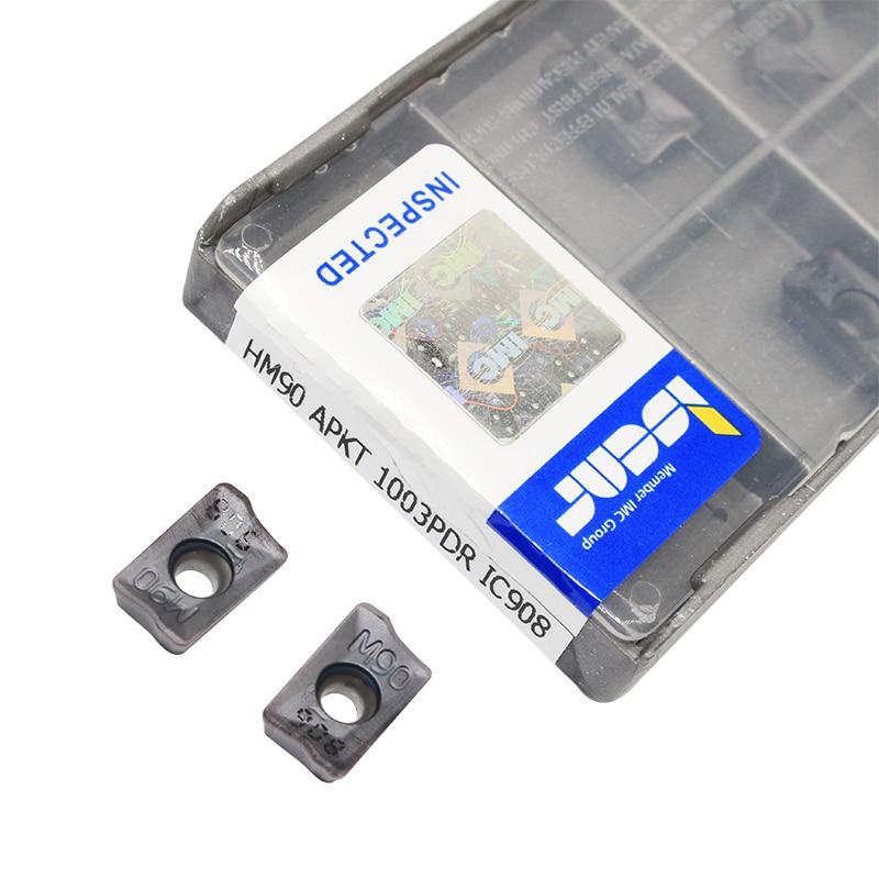 10PCS HM90 APKT 1003PDR IC908 Herramientas de torneado externas Inserto de carburo Herramienta de corte de torno Tokarnyy inserto de torneado apkt1003