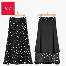 Tvzt винтажные цветочные принты гофрированные длинные юбки летние