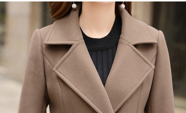 Woolen Women Jacket Coat Long Slim Blend Outerwear 2019 New Autumn Winter Wear Overcoat Female Ladies Wool Coats Jacket Clothes 15