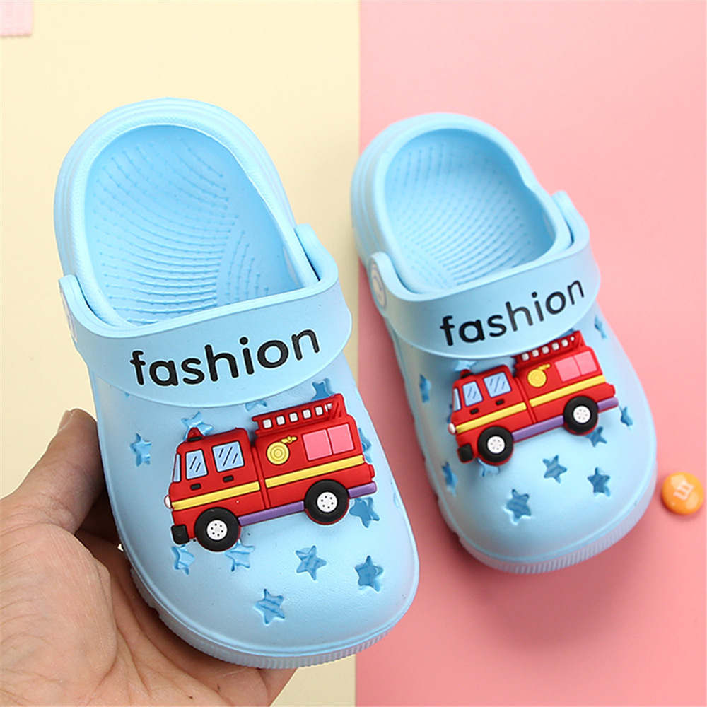 Kocotree Fashion Baby Children Slippers Cute Fire Engine Slippers Summer Boys Girls Beach Slippers Home Kids Shoes