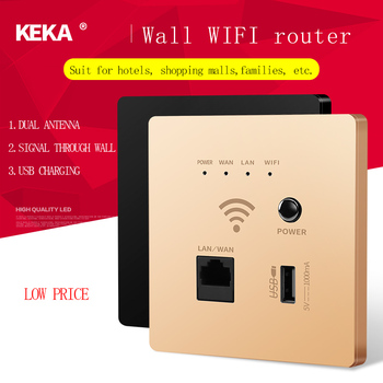 KEKA Wall wireless router 300Mbps 220V power supply embedded AP smart wireless WIFI relay extender 2.4G/5G router USB SOCKET hot sales silver usb socket wireless wifi usb charging socket wall embedded wireless ap router 300m wifi repeater free shipping