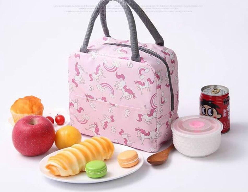 de flamingo para alimentos, piquenique isolado, bolsa
