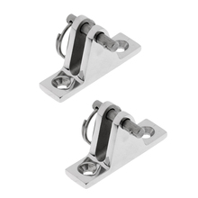 2 DECK HINGE 90° Bimini Top Stainless Steel Marine Fitting Quick Release Pin