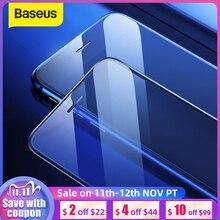 Baseus 0.3mm mince verre de protection pour iPhone 7 8 6 6s protecteur décran 9H couverture complète verre trempé pour iPhone X XS MAX