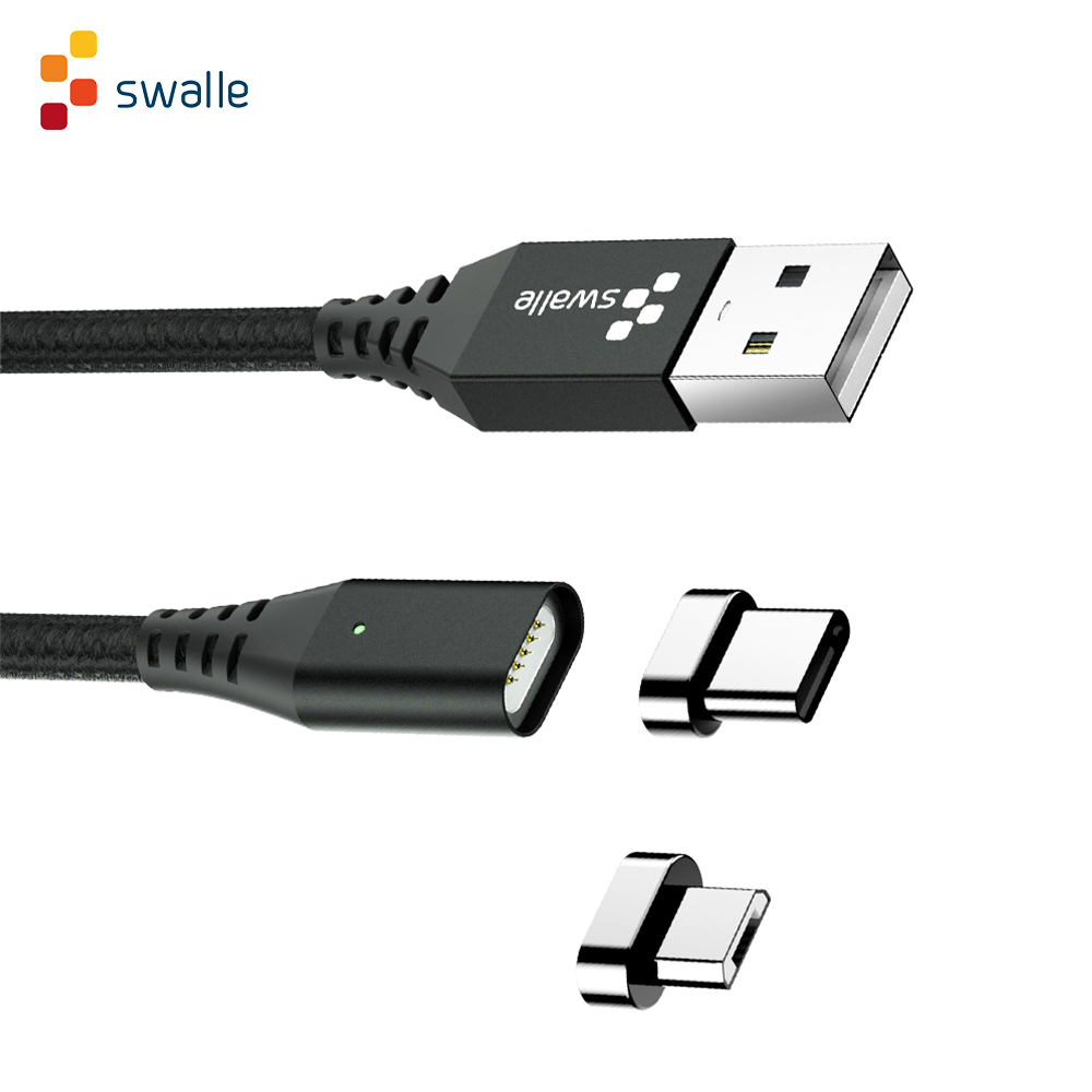 Swalle 3 in 1 magnetic cable Fast charge 2A magnetic Micro USB Type C cable with multi function adapter Dustproof plug|Mobile Phone Cables| |  - AliExpress