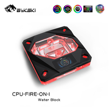 BYKSKI CPU Water Block For 2011\u0028X99\u0029 2066 115X\u00281150 1151 1155 1156\u0029 INTEL I7 Platform Black With LCD Temperature ,CPU-FIRE-ON-I