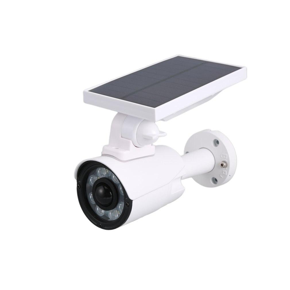 Солнечная металлическая камера наблюдения, солнечная панель, манекен, камера безопасности, домашний симулятор, камера наблюдения, Прямая