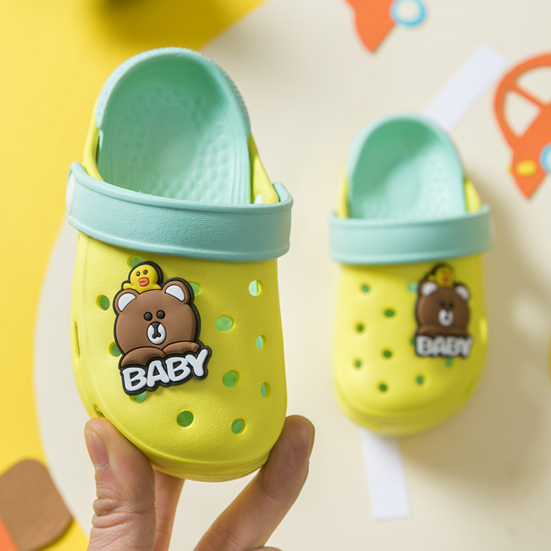 Baby Beach Shoes Kids Girls Boys Slippers Cute Bear EVA Children Sandals 2020 Summer Hole Slippers For Kids Croc Toddler Shoes