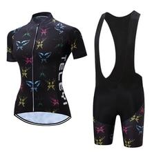 Female cycling clothing set 2020 Summer bicycle jersey BIB p