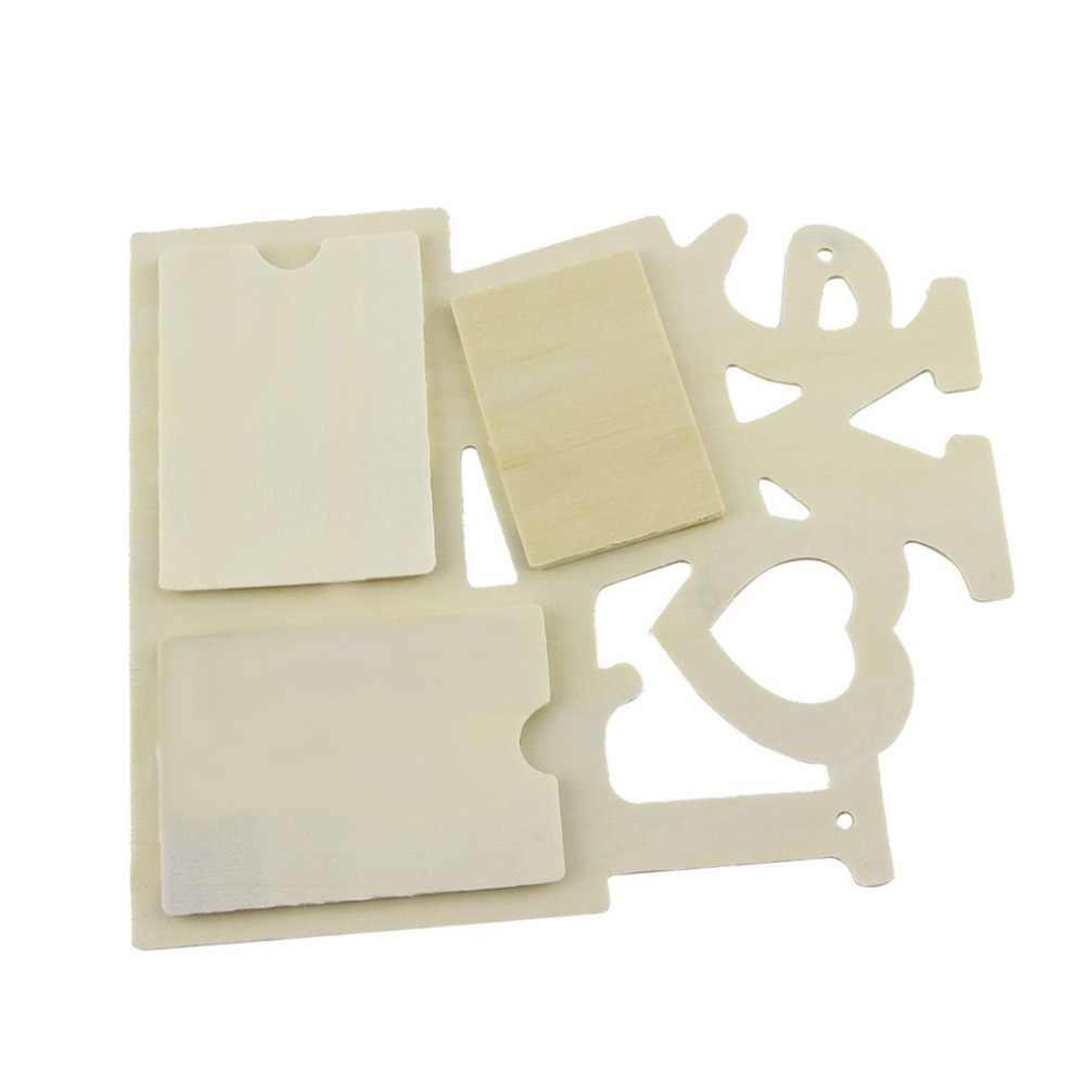 OUTAD 3 קופסות חלול אהבת עץ תמונה מסגרת אמנות עיצוב מודרני קיר תמונה מסגרות תמונה בציר תמונה מסגרת מסגרות בית דקור