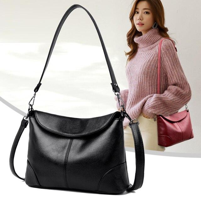 Soft Leather Crossbody Bags for Women 2020 Luxury Handbags Women Bags Designer Female Casual Hand Shoulder Bag bolsos de mujer 5