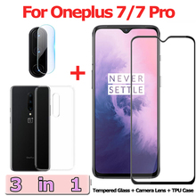 3-in-1 Tempered Glass for Oneplus 7 Pro 7Pro Camera One Plus Screen Protector Film