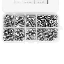 140pcs #10-32 Stainless Self Tapping Screws 304 Steel PH Pan Head Kit Assortment Set  Environment-friendly