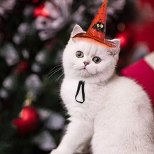 Fashion New Pet Cat Halloween Christmas Day Hat Bat Pumpkin Head Set Dog Dress Up Funny Headwear