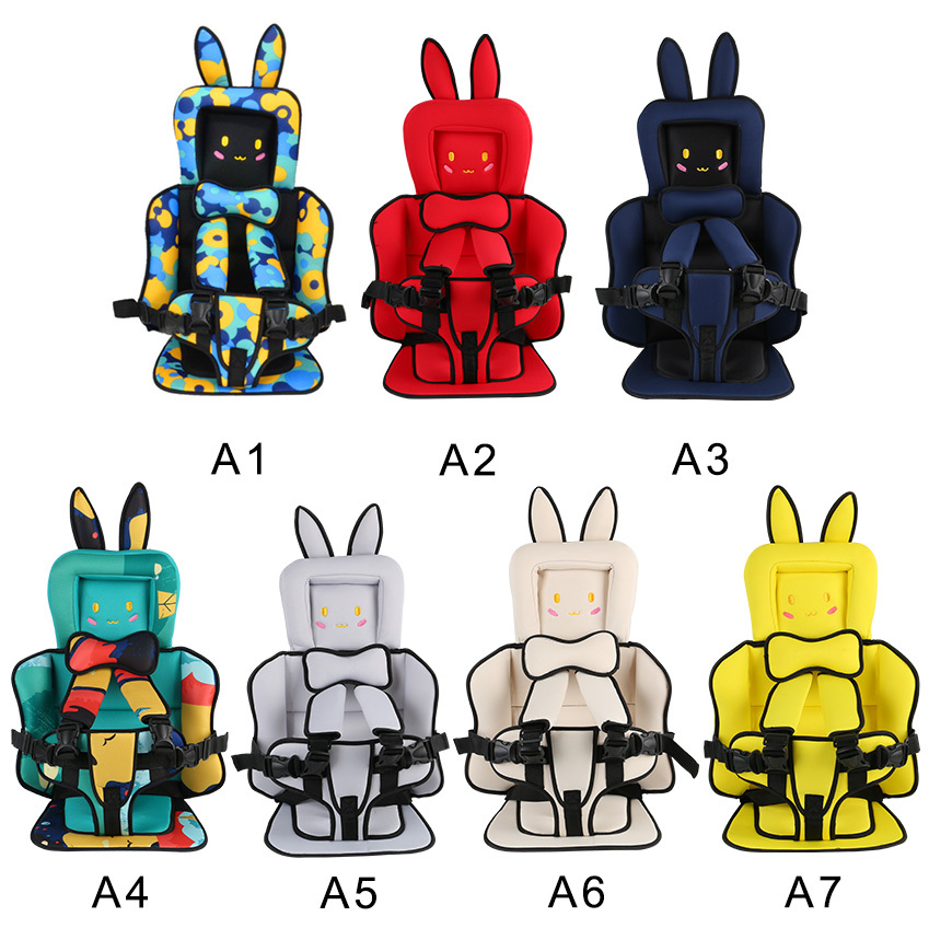 New Baby Safety Car Seat Mat Portable Baby Toddler Car Seat Simple Baby Chair Thickening Sponge Kids Stroller Car Seat For Baby