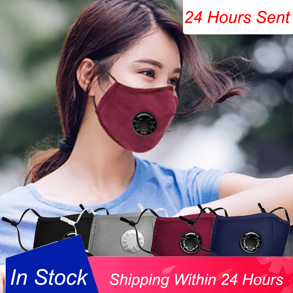 Pollution Mask Anti Air Dust Smoke Virus With Elastic Earloop Washable Mask Made For Men Women Children Black Breatheable