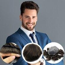 Cheveux humains indiens remy, toupet Invisible, peau fine, nœud injecté, en stock