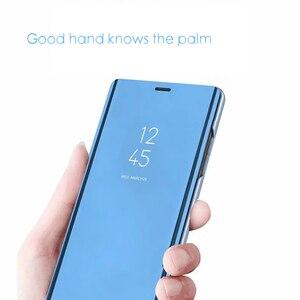 Image 4 - Smart Spiegel Flip Fall Für Samsung Galaxy S10 Lite S9 S8 S7 Rand A8 A9 A7 A5 A6 Plus 2018 a10 A20 A30 A40 A50 A80 A90 A70 Abdeckung