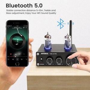 Image 5 - AIYIMA 6K4 Vakuum Rohr Verstärker Vorverstärker Bluetooth 5,0 Preamp AMP Mit Höhen Bass Ton Einstellung Für Zuhause Sound Theater
